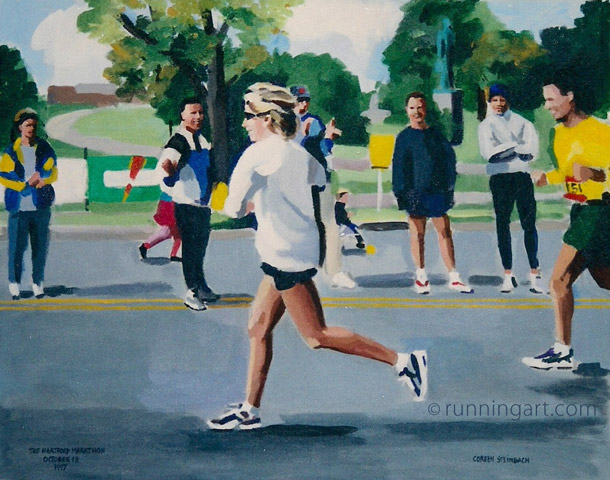 Hartfod Marathon by artist Coreen Steinbach