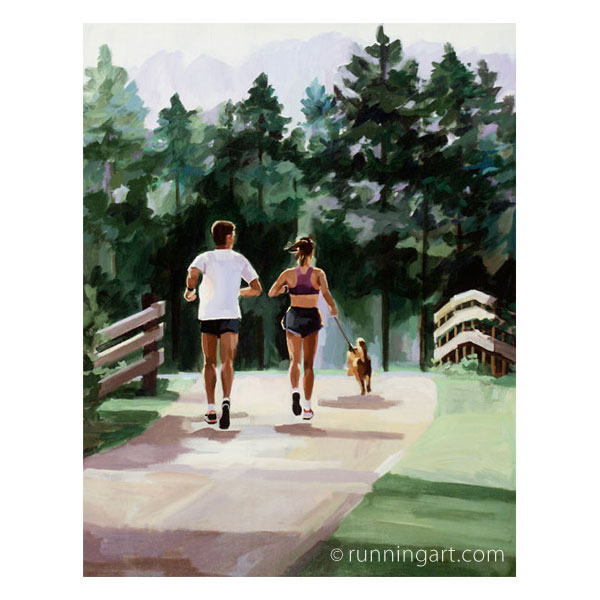 Morning Run painting by Coreen Steinbach