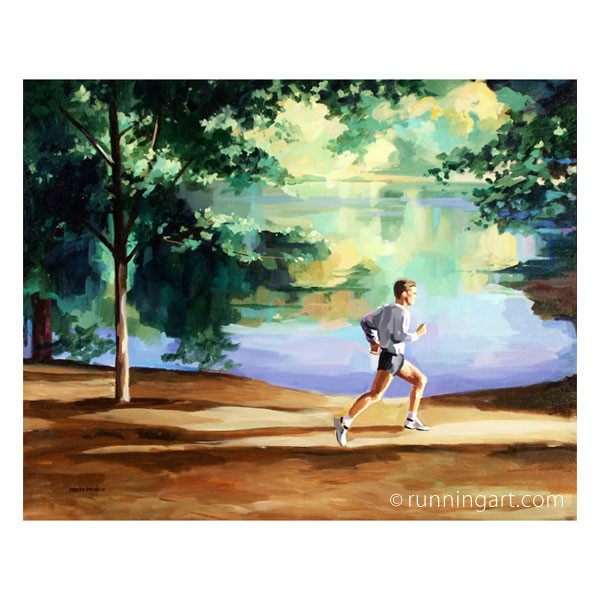 Trail Run painting by Coreen Steinbach