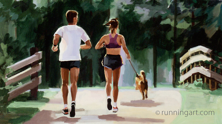 Morning Run paointing by Coreen Steinbach