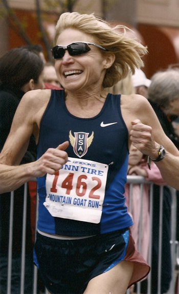 Coreen Steinbach competes in a race