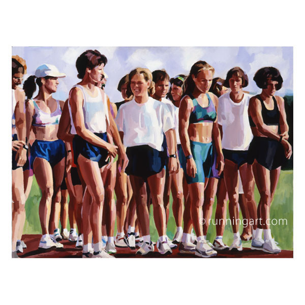 Track Practice painting by Coreen Steinbach