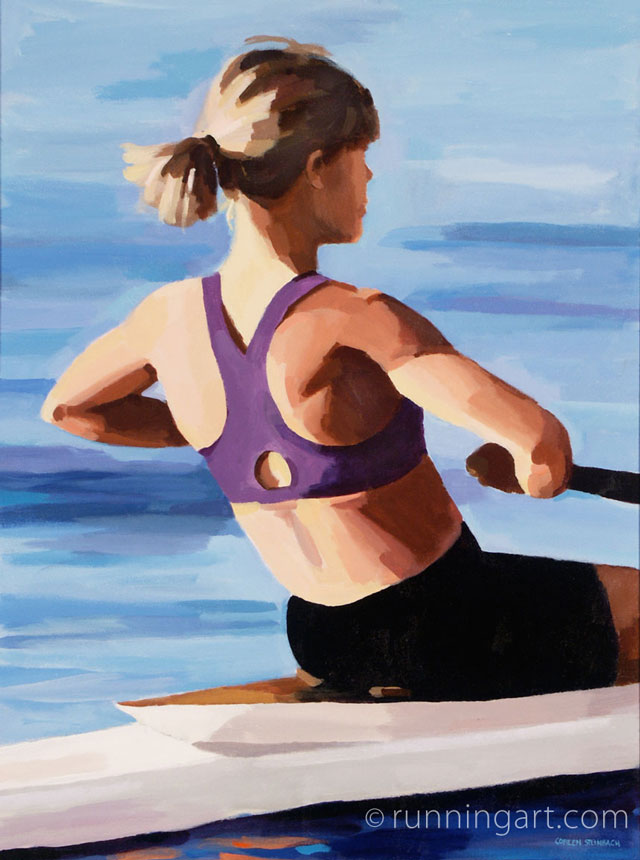 The Rower painting by Coreen Steinbach