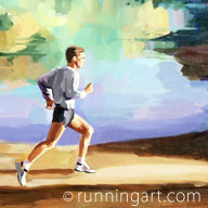 Trail Run painting by Coreen Steinbach