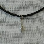 16″ Sterling Silver Chain Necklace with Track Spike Pendant