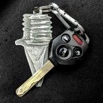 Track Spike Key Chain