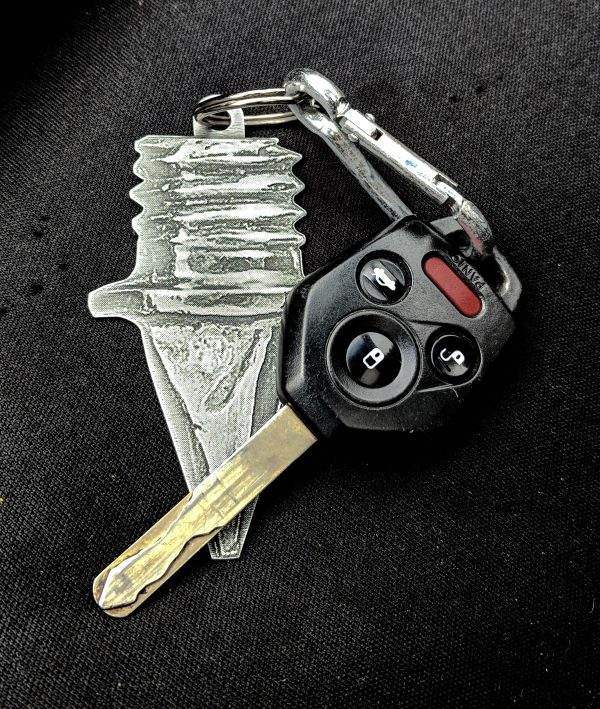 Track Spike Key Chain
